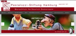 Bildschirmausschnitt der neuen Website mit Claim: Menschlich.Verlässlich.Gemeinsam.