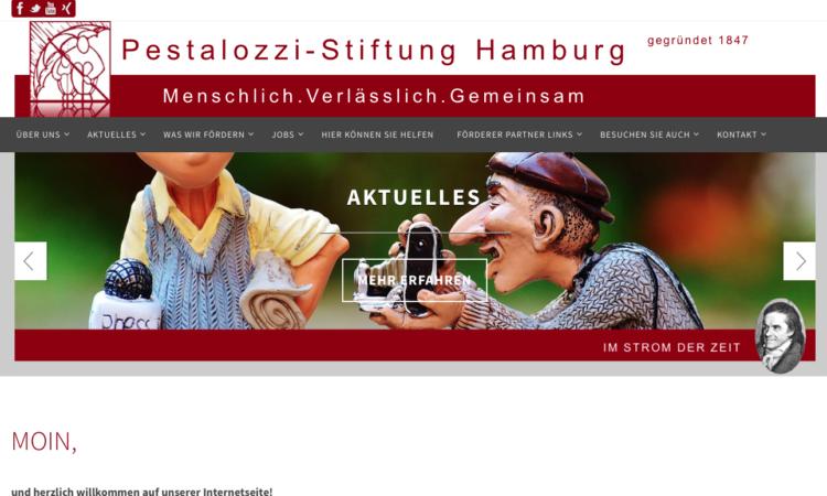 Bildschirmausschnitt der neuen Website mit dem Claim: Menschlich.Verlässlich.Gemeinsam.