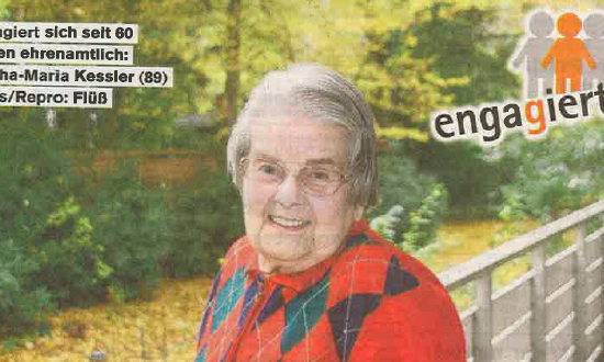 Martha Kessler Bild aus dem Hamburger Wochenblatt