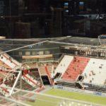Noch wenige Wochen steht das Modell des Millerntor-Stadions in der Rindermarkthalle - hier Details von der Kita Piraten-Nest (mit Bandenwerbung der Pestalozzi-Stiftung!)