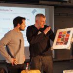 Übergabe Geschenk von Christian Violka an Steffen Henssler