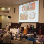 Die Kiezläufer aus Horn und Bergedorf-West stellten im März 2017 ihre Arbeit vor dem Spendenparlament vor.